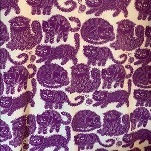 RARE Purple Cats LulaRoe Liv Tee